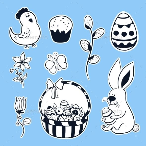 Easter Vector Set