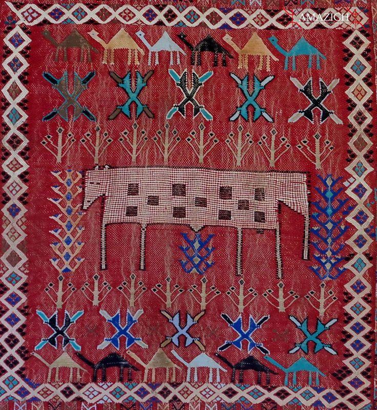 Berber carpet khenifra region morocco amazigh