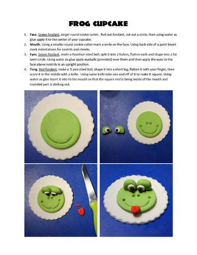 Froggie Cupcake Topper
