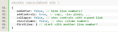 jQuery Syntax Highlighter