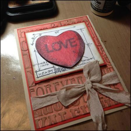 16 best images about Valentine Blueprint Tim Holtz – Anonymous Valentine Card