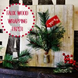 Gift Wrapping Ideas: Wood Slice Wreath & Snowman - Finding Home
