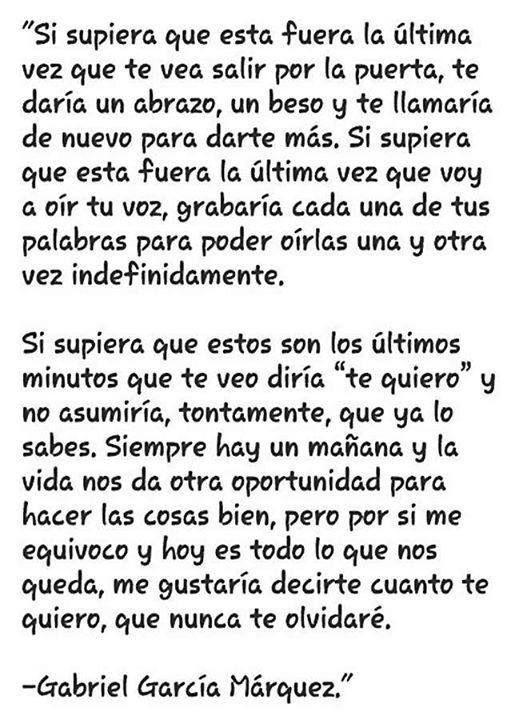 Si supiera... - Gabriel García Marquez