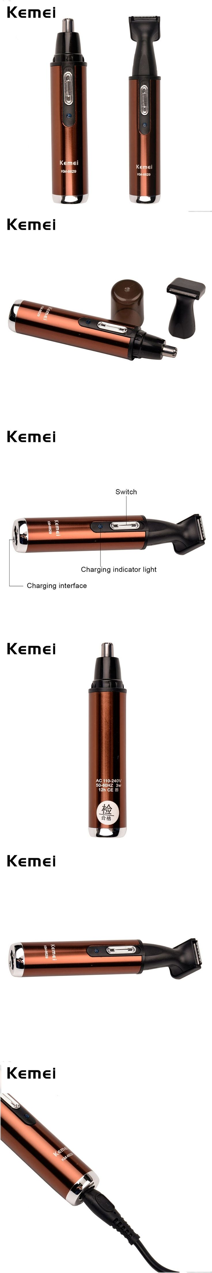 Kemei Electric Nose Hair Trimmer Nose Rechargeable Nose Cutter Hair Cutting machine Beard Clipper Sideburns with Durable Blade