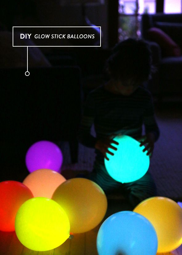 Host a glow-in-the-dark party with these DIY glow stick balloons