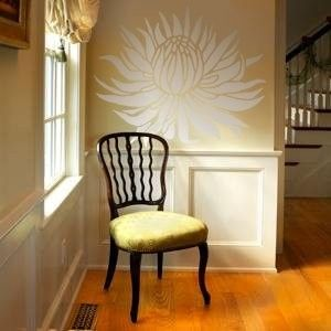 STENCIL  Large PROTEA Flower  Wall Stencil  by OliveLeafStencils,#protea