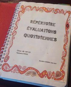 Cette année, suite aux nouveaux programmes , j'ai décidé d'adopter le code d'évaluation du document de synthèse de fin de cycle pour évaluer les GS. Au quotidien, j'utilise un carnet format A5 à spirales pour noter mes remarques et les progrès et réussites...