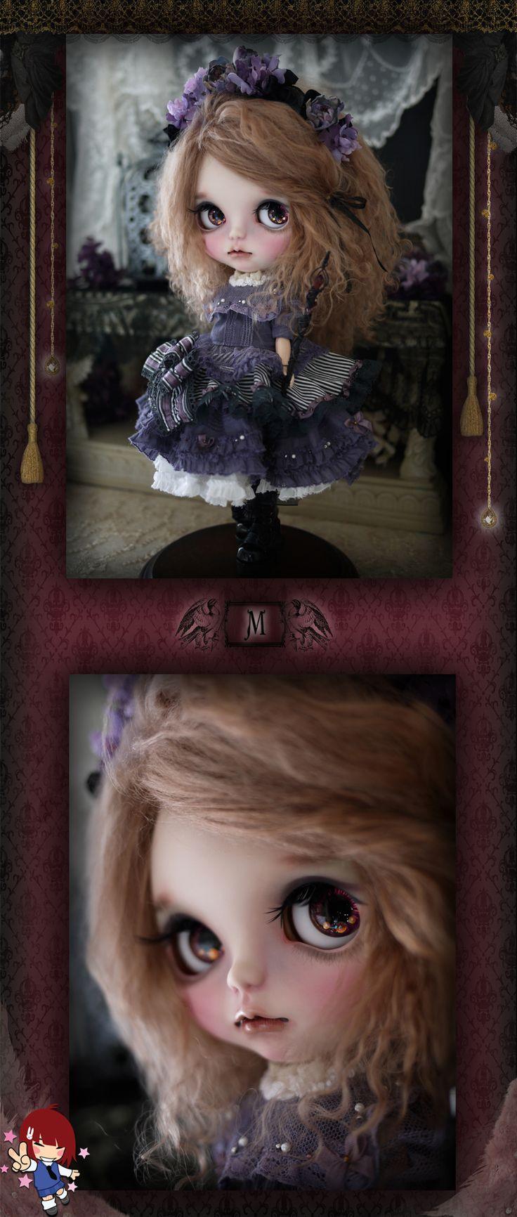 Custom Blythe dolls: Dark Shadow by Milk Tea. - A Rinkya Blog