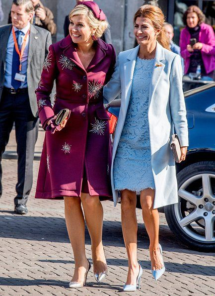28 March 2017 - Visit of Argentinian President Mauricio Macri to The Netherlands (day 2) - coat by Claes Iversen