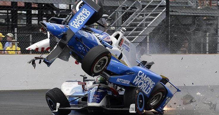 Τρομακτικό τροχαίο στο Indy500: Δύο μονοθέσια συγκρούονται, το ένα εκτοξεύεται αλλά κανείς δεν τραυματίζεται