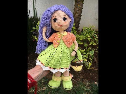 Muñeca amigurumi Carolina - DIY completo con el paso a paso - Patrones gratis