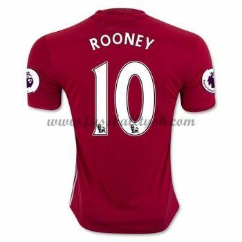 Premier League Fussball Trikots Manchester United 2016-17 Rooney 10 Heimtrikot Kurzarm