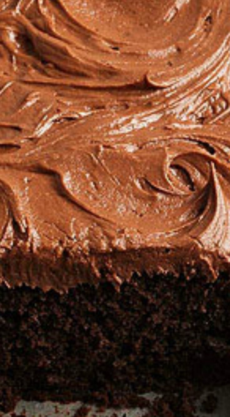 Dark Cocoa Buttermilk Cake with Cocoa Mascarpone Frosting ~ An incredibly rich chocolate cake topped with creamy Cocoa Mascarpone Frosting.