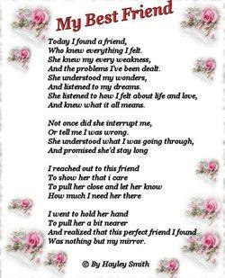 Birthday Poem For Best Friend Friendship Wedding Poems