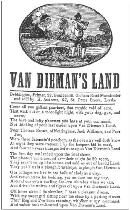 the lyrics to the song Van_Dieman's_Land