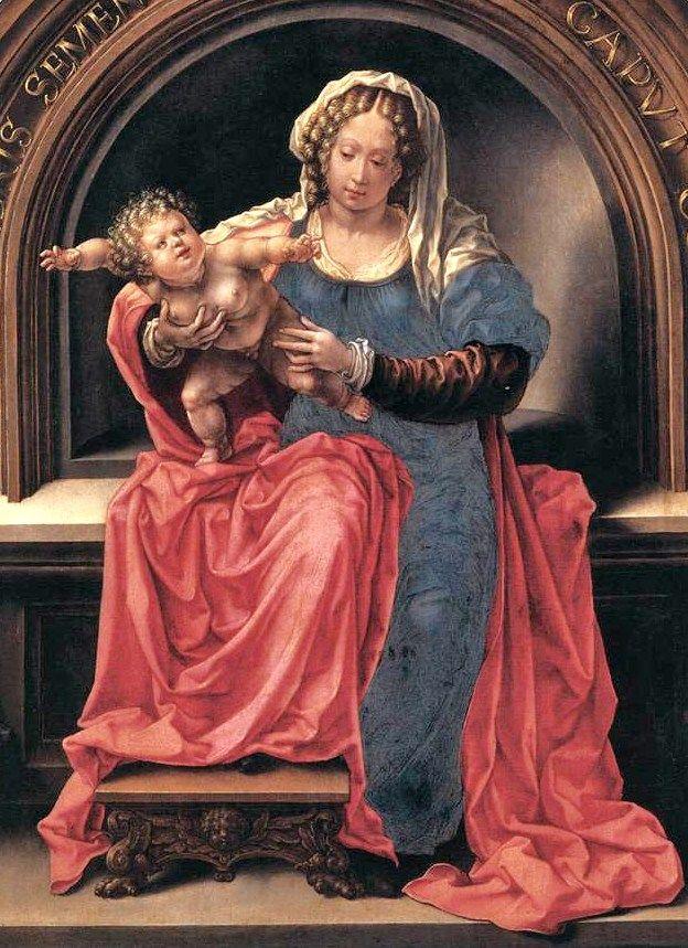 Jan Gossaert - The Virgin and Child.1527