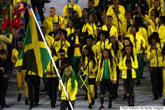 Jamaican Flagbearer Shelly-Ann Fraser-Pryces Ombre Hair Wins Olympic Gold From Twitter