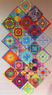 Great Art Activity:  symmetry using students' names