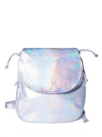 Hologram Silver Laser Backpack #AmericanApparel #leather
