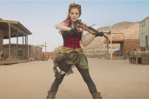 It's fiddle vs. guitar in a showdown for the ages. I loved this new music video from Lindsey Stirling, and it's got some awesome steampunk in it!
