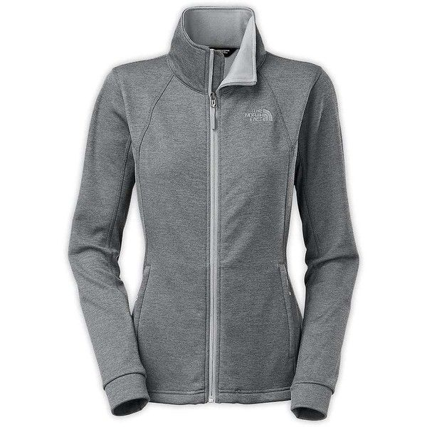 The North Face Women's Momentum Jacket ($99) ❤ liked on Polyvore featuring activewear, activewear jackets, high rise grey heather, columbia sportswear, women activewear and the north face