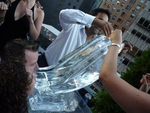 There is nothing better than an Ice Luge to step your party up to another level! WE have luges of any size or shape, custom made by our scultpors here at Apple Ice! IceSculptureDesigns.com . . . . #thirstyThursday #wedding #drink #vodka #birthday #appleice #spring #shots #premium #luge #ice #icesculpture #sculpture #corporate #event #holiday #party #fun #cool