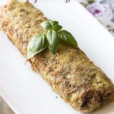 Rolada z mięsa mielonego faszerowana szpinakiem z serem Feta
