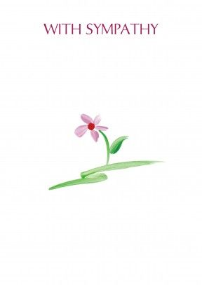 pink flower | sympathy card  Discount code to get 10% off --> SCRTZZGL