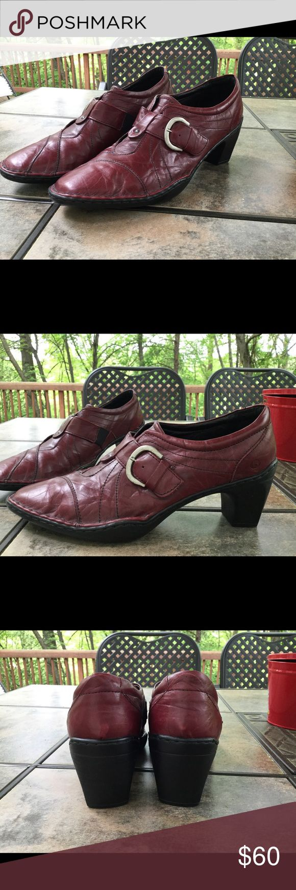 Joseph Seibel Calla 03 Bootie Size 40 (us 9) Gorgeous dark red burgundy leather shoes. Size 40, in this case equivalent to a US size 9 (my typical size). This brand is known in Europe for its comfort. Pointed toe, 2 1/4 inch heel. Excellent used condition from non smoking home. Josef Seibel Shoes Heels