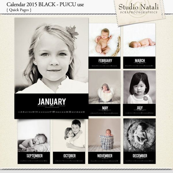 Calendar 2015 - for Personal Use or for Photographers