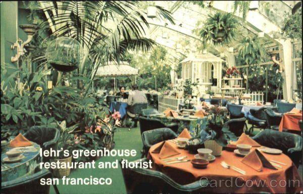 Iehr's Greenhouse Restaurant & Florist, 740 Sutter Street San Francisco California