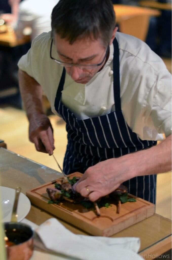 @1976jk Max Fischer carving rack of lamb for two to share at your table today @RowleysBaslow