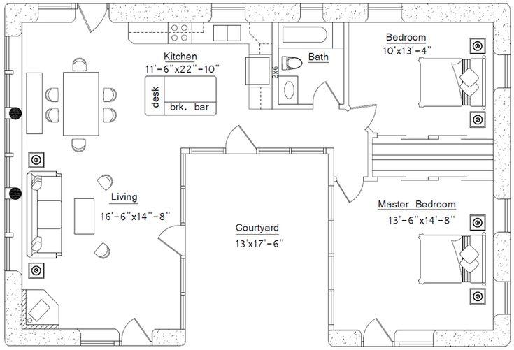 U shaped ranch house house plans name u shaped house for U shaped ranch style home plans