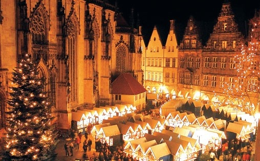 Christmas Market, Muenster Germany... great place to shop in December.