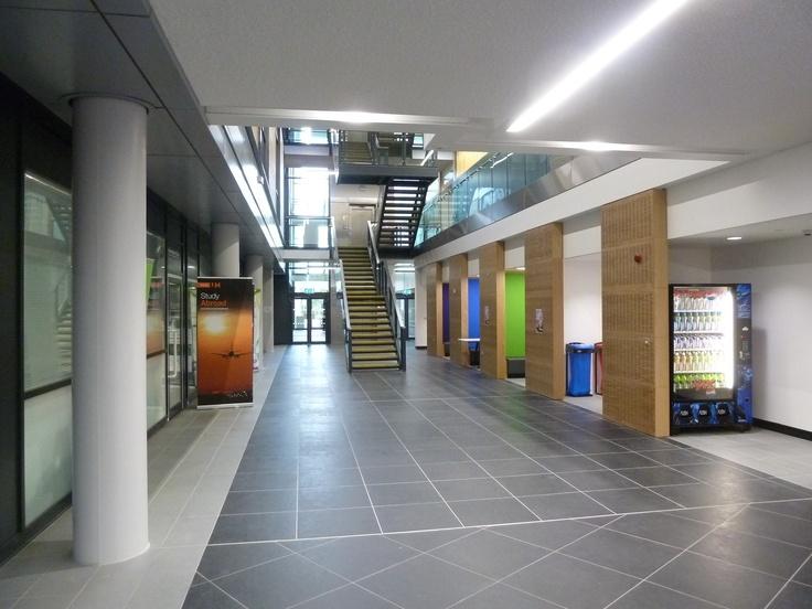 The Re Designed Atrium Between M And N Blocks Beneath New Mezzanine Floor