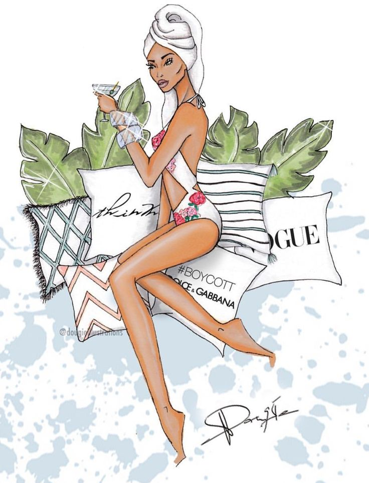 S U M M E R • D A Y S: #FashionIllustrations @dougieillustrations| Be Inspirational ❥|Mz. Manerz: Being well dressed is a beautiful form of confidence, happiness & politeness
