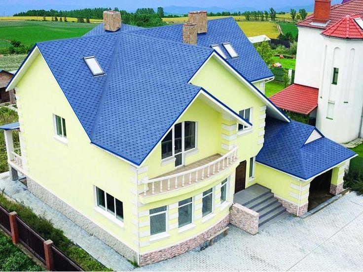 расположен фото фасад дома с синей крышей лекарство мяту назначают