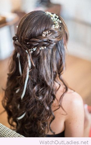 Curls and flowers in my hair