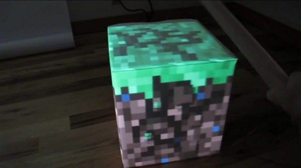 Pretty cool little minecraft block. I don't know what minecraft is, but it sure has been popular lately.