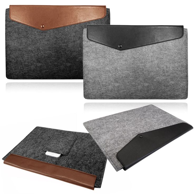 £6.95. Laptop Felt Sleeve Cover with Leather Flap for Apple Macbook from Ebay UK