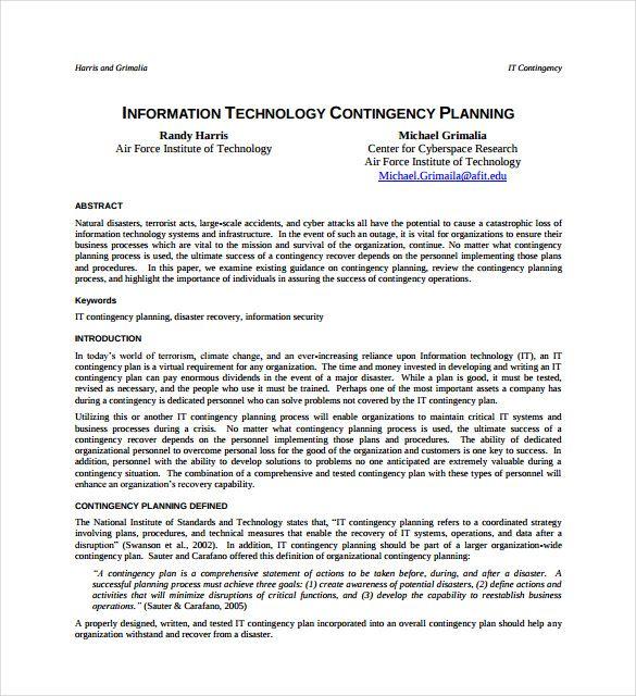 business contingency plan example   nfgaccountability.com