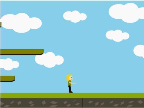 Platformer game with extended game world.
