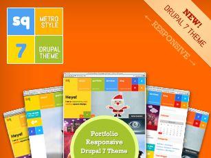 SQ: Square Metro Drupal Digital Agency Theme - Drupal 7 Responsive Theme