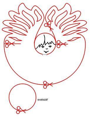 Papírový anděl -  www.sikulici.cz/andelicci paper angels diy free printable