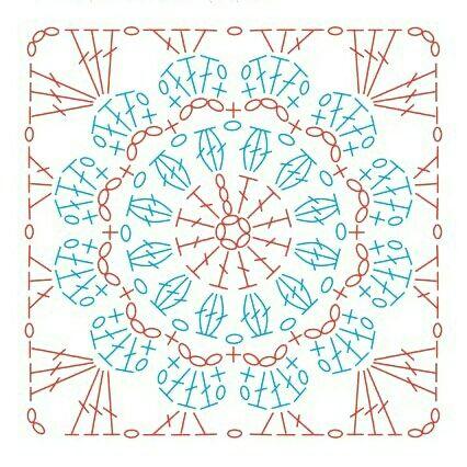 Sferruzzando&Co: Crochet Square Free pattern : piastrella quadrata 8