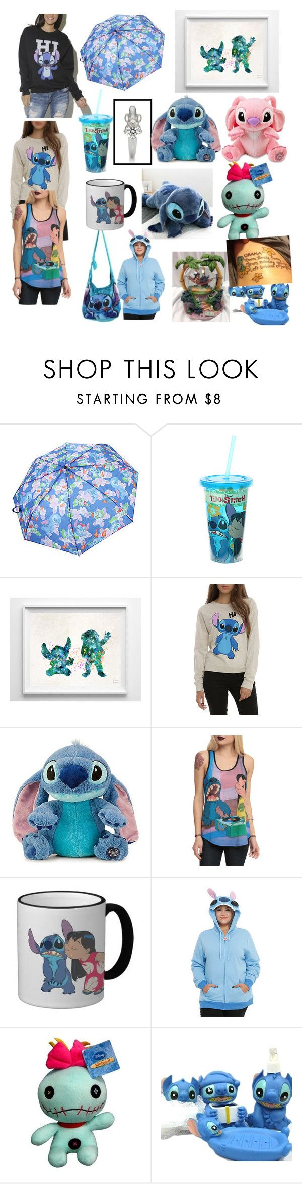 """Lilo and stitch ☺️"" by ruizdestiny ❤ liked on Polyvore featuring Disney and INC International Concepts"