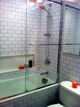 Niche for bath stuff nice white subway tile bathroom design ideas pictures remodel and - Nice subway tile bathroom designs with tips ...