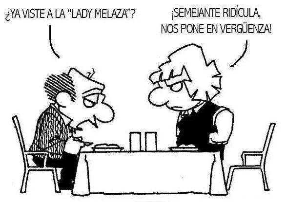Etiqueta #ladymelaza en Twitter