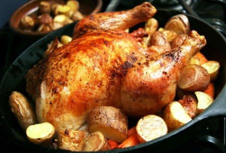Приготовление гуся в духовке с картошкой