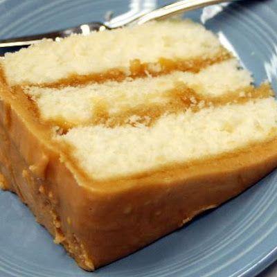 Caramel Cake Recipe - this looks like the cake Sara at church makes. Man, it is yummy!
